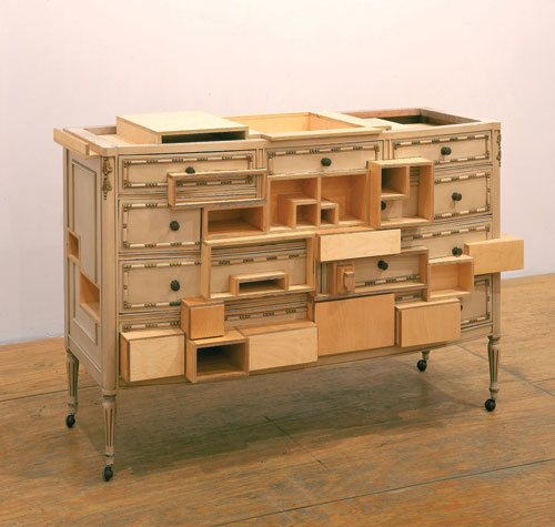 Courtney Smith. Santo Antonio, 2003. Brazilian chest of drawers, plywood, 81.3 x 147.3 x 50.8 cm. Courtesy of the artist. Photograph: Mauro Restiffe.