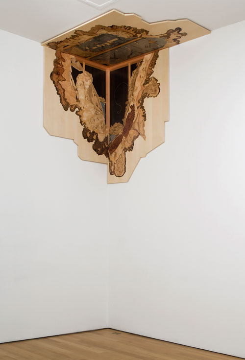 Alison Elizabeth Taylor. Tap Left On, 2009-10. Wood veneer, shellac, 180.3 x 190.5 x 121.9 cm. Courtesy of the artist; James Cohan Gallery, New York.