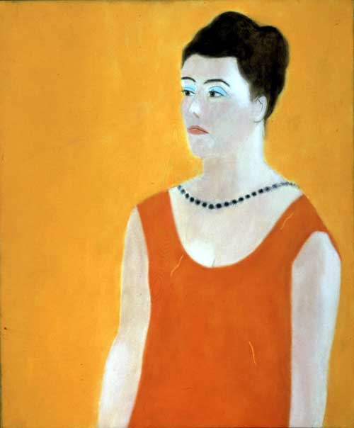 Craigie Aitchison. <i>Daphne with Black Necklace</i>, 1968 oil 