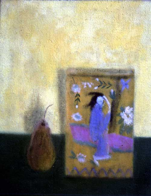 Craigie Aitchison. <i>Japanese Tin Still-life</i>, 1964, oil on canvas, 
