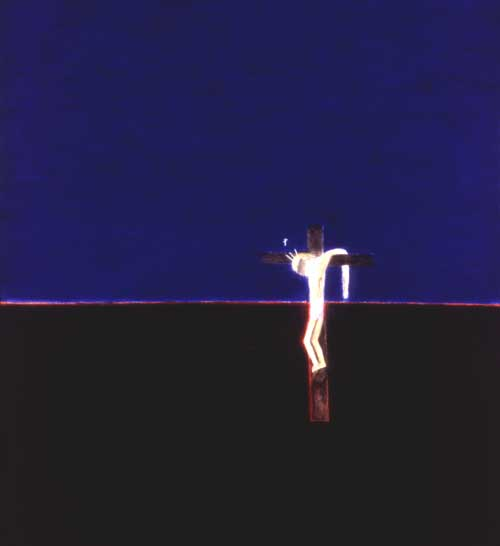 Craigie Aitchison. <i>Crucifixion</i>, 1994 (Winner of the 1st Jerwood Painting 