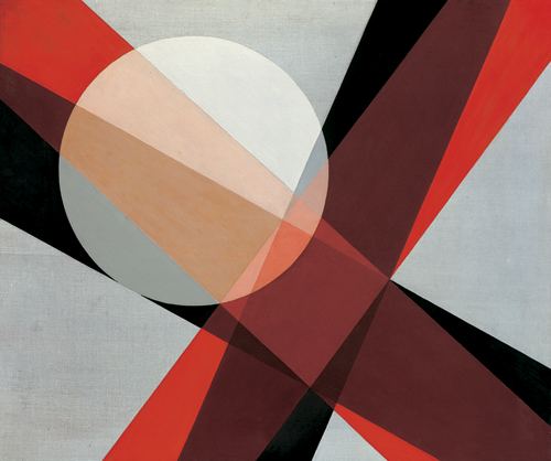 László Moholy-Nagy. <em>A19</em> 1927. Oil on canvas, 80 x 96 cm. Collection Hattula Moholy-Nagy. Copyright holder credit: © 2006 Hattula Moholy-Nagy/DACS.
