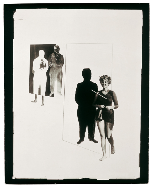 László Moholy-Nagy. <em>Jealousy</em> 1924-27. Gelatin silver print of a photomontage (photoplastic), 17.4 x 12.5 cm. Collection Hattula Moholy-Nagy. Copyright holder credit: © 2006 Hattula Moholy-Nagy/DACS.