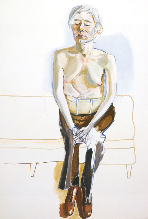 <p>Alice Neel. <em>Andy Warhol</em>, 1970. Oil on canvas, 152.4 x 101.6 cm. Whitney Museum of American Art, New York, gift of Timothy Collins.