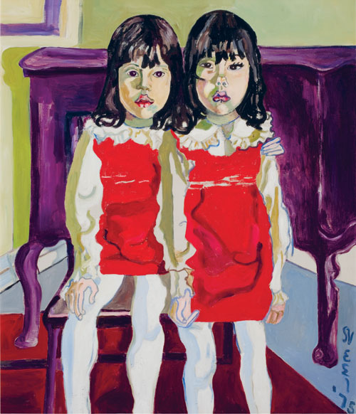 <p>Alice Neel.<em> The De Vegh Twins, </em>1975. Oil on canvas, 96.5 x 81.3 cm. Private collection, Washington, DC.