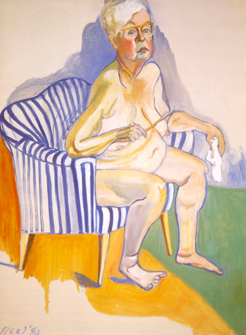 <p>Alice Neel.<em> Self-Portrait, </em>1980. Oil on canvas, 137.2 x 101.6 cm. Smithsonian National Portrait Gallery, Washington, DC. Museum purchase.