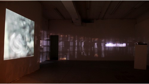 Morehshin Allahyari. The Romantic Self-Exiles II, 2012. Plexiglass + video projection.