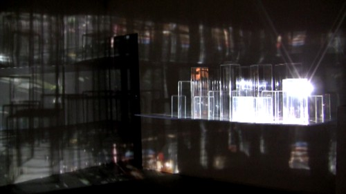 Morehshin Allahyari. The Romantic Self-Exiles II, 2012. Plexiglass + video projection (3).