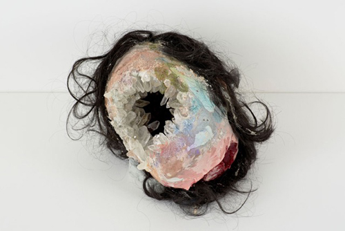 David Altmejd. Anand, 2015. Polyurethane foam, epoxy clay, epoxy gel, acrylic paint, resin, quartz, synthetic hair, glitter,