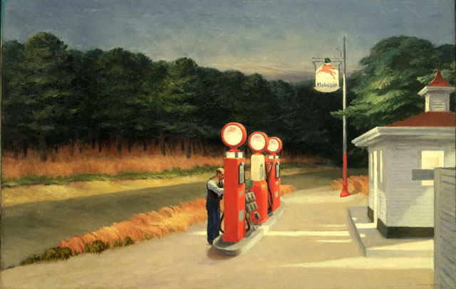 Edward Hopper, Gas, 1940. Oil on canvas, 66.7 x 102.2 cm. Collection of Museum of Modern Art , New York. Mrs. Simon Guggenheim Fund, 1943. Photograph © 2016. Digital image, The Museum of Modern Art, New York/Scala, Florence.
