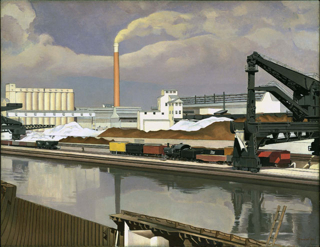 Charles Sheeler, American Landscape, 1930. Oil on canvas, 61 x 78.7 cm. The Museum of Modern Art, New York, Gift of Abby Aldrick Rockefeller, 1934. Photograph © 2016. Digital image, The Museum of Modern Art, New York/Scala, Florence.