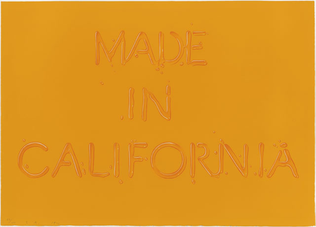 Edward Ruscha. Made in California, 1971. Colour lithograph. © Ed Ruscha. Reproduced by permission of the artist.