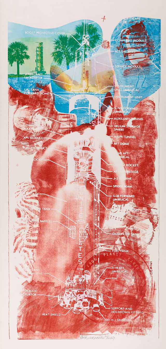 Robert Rauschenberg. Sky Garden from Stoned Moon, 1969. Colour lithograph and screenprint. © Robert Rauschenberg Foundation/DACS, London/VAGA, New York.