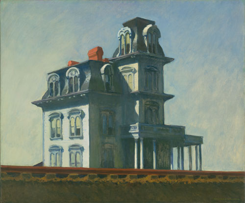 Edward Hopper. House by the Railroad, 1925. Oil on canvas. 61 x 73.7 cm. The Museum of Modern Art, New York. Given anonymously. Digital Image © The Museum of Modern Art, New York, Digital Imaging Studio.