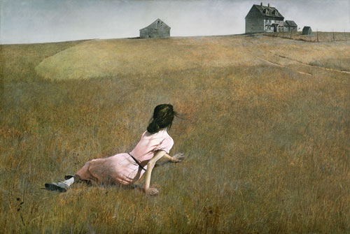Andrew Wyeth. Christina's World, 1948. Tempera on panel. 81.9 x 121.3 cm. The Museum of Modern Art, New York. Purchase. © Andrew Wyeth.