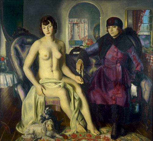 George Bellows.<em> Two Women</em>, 1924. Oil on canvas, 144.8 x 152.4 cm. Portland Museum of Art, Maine.