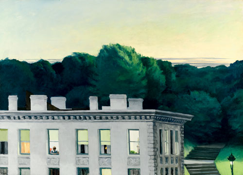 Edward Hopper. House at Dusk, 1935. Oil on canvas, 92.1 x 127 cm. Virginia Museum of Fine Arts, Richmond. John Barton Payne Fund. ©Virginia Museum of Fine Arts.