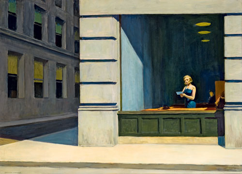 Edward Hopper. New York Office, 1962. Oil on canvas, 102.87 x 140.02 cm. Montgomery Museum of Fine Arts, Montgomery, Alabama, The Blount Collection. © Montgomery Museum of Fine Arts.