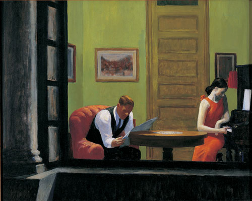 Edward Hopper. Room in New York, 1932. Oil on canvas, 74.4 x 93 cm. Sheldon Museum of Art, University of Nebraska – Lincoln, UNL-F.M. Hall Collection. © Sheldon Museum of Art.