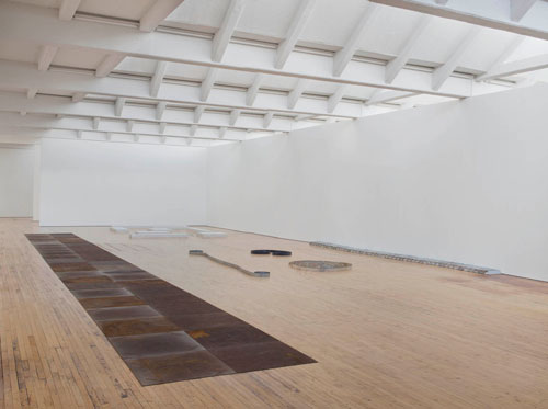 Installation view, Carl Andre: Sculpture as Place, 1958–2010, Dia:Beacon, Riggio Galleries, Beacon, New York. 5 May 2014–2 March 2015. Art © Carl Andre/Licensed by VAGA, New York, NY. Photograph: Bill Jacobson Studio, New York. Courtesy Dia Art Foundation, New York.