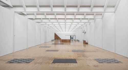 Installation view (2), Carl Andre: Sculpture as Place, 1958–2010, Dia:Beacon, Riggio Galleries, Beacon, New York. 5 May 2014–2 March 2015. Art © Carl Andre/Licensed by VAGA, New York, NY. Photograph: Bill Jacobson Studio, New York. Courtesy Dia Art Foundation, New York.