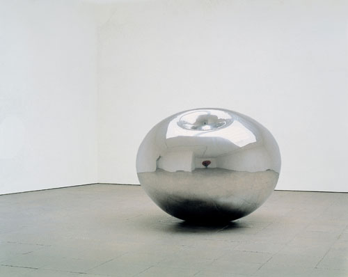 Anish Kapoor. <em>Turning the World Inside Out</em>, 1995. Stainless steel, 148 x 184 x 188 cm. Bradford Art Galleries and Museums. Acquired in 1997 with a contribution from the Art Fund and with support from the National Lottery through the Arts Council of England, the NACF and The Henry Moore Foundation. © the artist 2011.