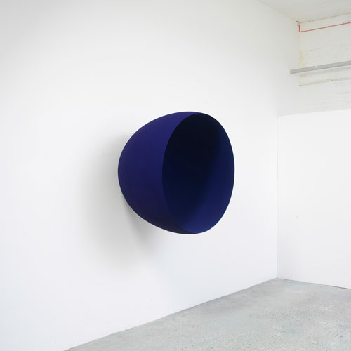 Anish Kapoor. <em>Void</em>, 1994. Fibreglass and pigment, 110 cm diameter. British Council Collection.