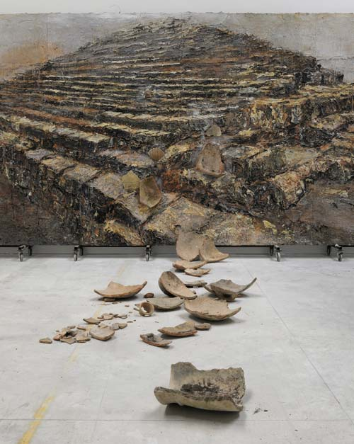 Anselm Kiefer. <em>Shevirath Ha Kelim</em> 2009. Terracotta, acrylic, oil and shellac on canvas, 129 15/16 x 299 3/16 x 511 13/16 inches (330 x 760 x 1300 cm).