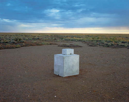 Antony Gormley. <em>Room for the Great Australian Desert</em>, 1989. Concrete, 92 x 58 x 51 cm. Collection Art Gallery of New South Wales, Sydney, Australia. © Antony Gormley.