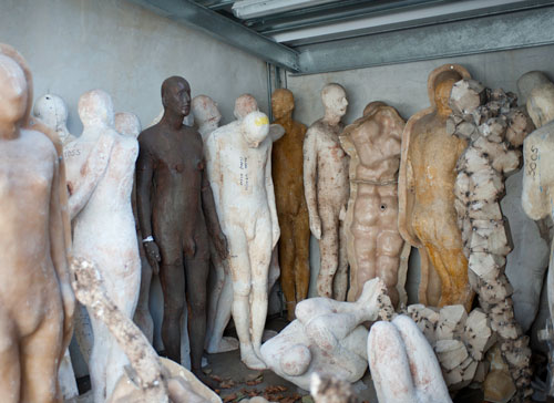 Antony Gormley. Storeroom view 3. Photograph by Nick Howard.
