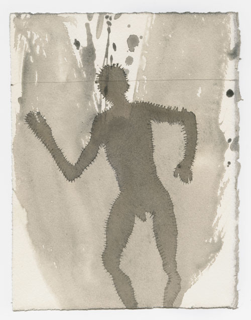 Antony Gormley. <em>Under My Skin II</em>, 2000. Carbon and casein on paper, 18.8 x 14.5 cm. © Antony Gormley.