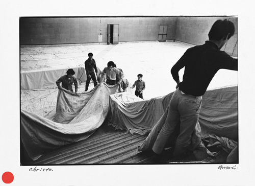Shigeo Anzai, Christo, The 10th Tokyo Biennale '70 — Between Man and Matter, Tokyo Metropolitan Art Museum. May, 1970. Baryta-coated silver print. Courtesy the artist and White Rainbow, London.