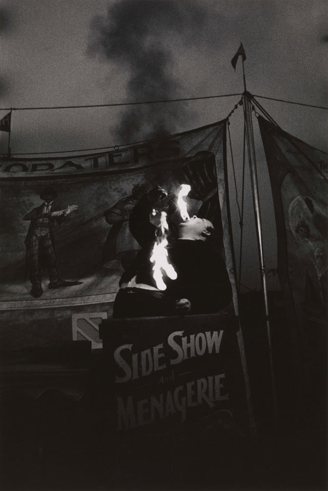 Diane Arbus. Fire Eater at a carnival, Palisades Park, N.J. 1957. © The Estate of Diane Arbus, LLC. All Rights Reserved.