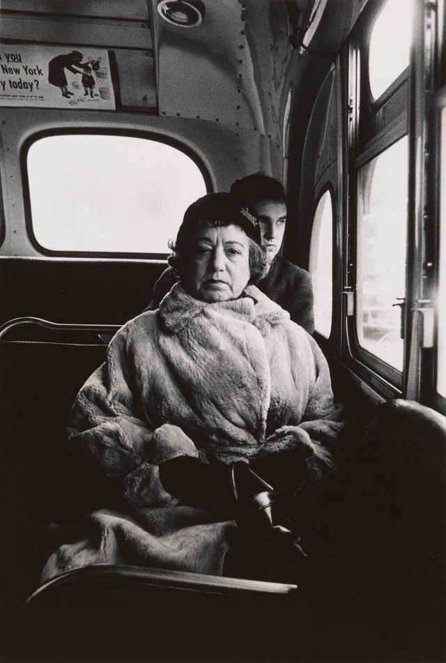 Diane Arbus. Lady on a bus, N.Y.C. 1957. © The Estate of Diane Arbus, LLC. All Rights Reserved.
