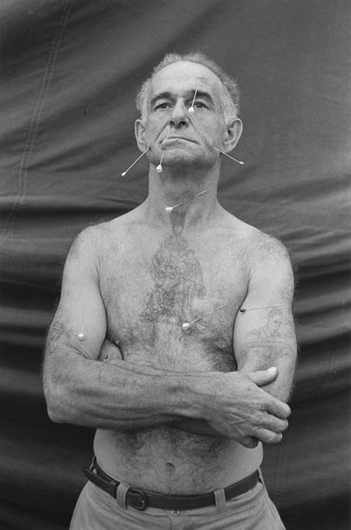 The human pincushion, Ronald C. Harrison, N.J. 1962. Copyright © 1962 The Estate of Diane Arbus, LLC