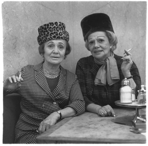 Two ladies at the automat, N.Y.C. 1966. Copyright © 1980 The Estate of Diane Arbus, LLC
