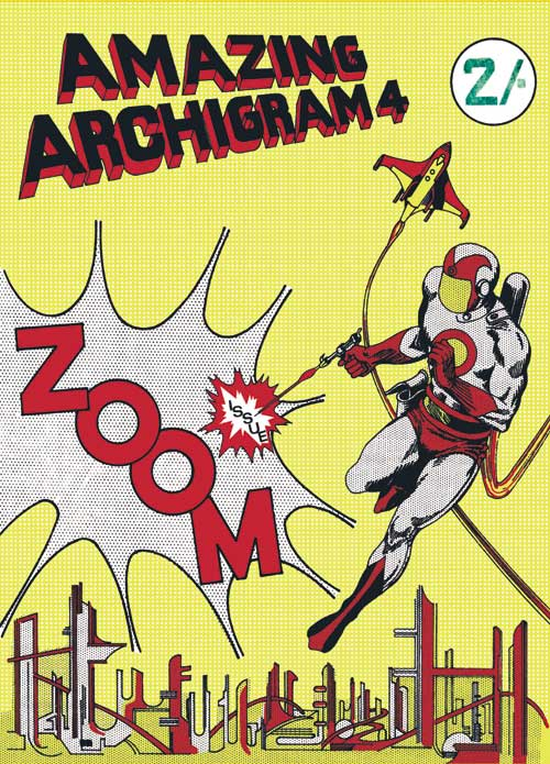 Cover illustration of the fourth issue of Archigram magazine.