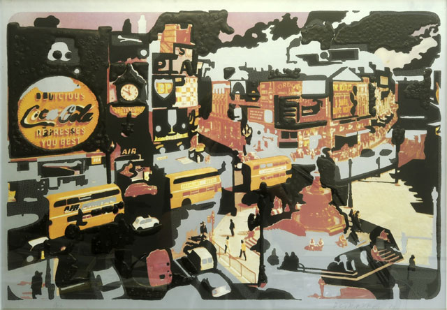 Dieter Roth. 6 Piccadillies, 1969–1970. Screen print, 50 x 70 cm. Private collection.