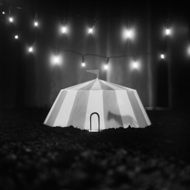 Miyuki Okuyama. Circus Tent, 2006/2011. Gelatin silver print on fibre-based paper mounted on aluminium, framed with museum glass, 100 x 100cm. Courtesy of the artist.