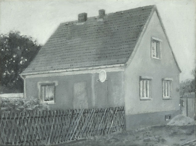 Ulrich Jansen. Schulstraße, 1998. Oil on canvas, 30 x 40 cm. Courtesy of the artist.