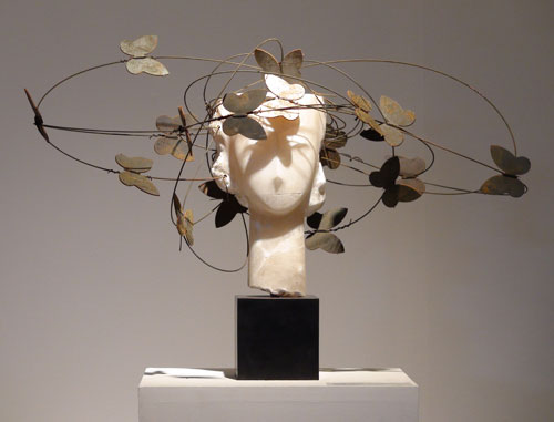Manolo Valdès. <em>Head VI</em>, 2011. Bronze and iron. 