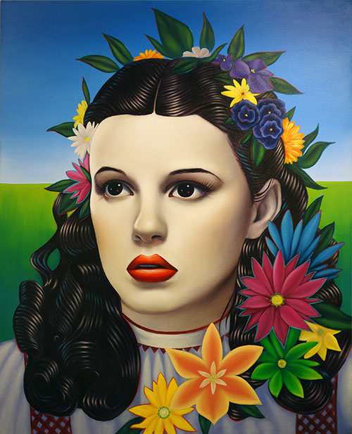 Ryan Martin. Optimistic Voices II, 2014. Oil on canvas, 50 x 40 in. Mark Wolfe Contemporary, VOLTA NY.