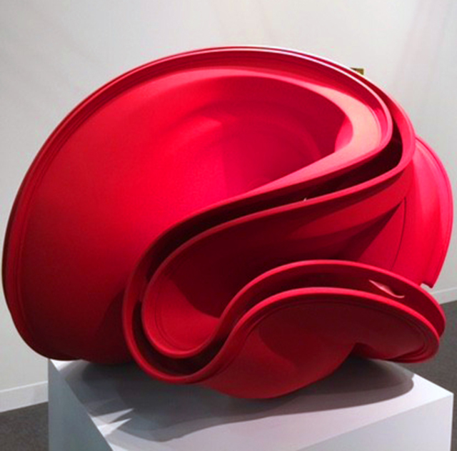 Tony Cragg. Red Square, 2007. Bronze, 70 x 80x 66 cm. Galerie Thaddaeus Ropac. Photograph: Jill Spalding.