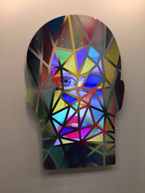 Tony Oursler. <*ng 2017. Aluminum, acrylic paint, 34 ¼ x 54 ¾ in. Lisson Gallery. Photograph: Jill Spalding