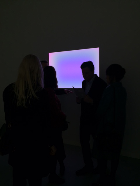 James Turrell. Small Glass, 2012. L.E.D. light, etched glass and shallow space, 31 ¼ x 47 in. Kayne Griffin Corcoran Gallery. Photograph: Jill Spalding