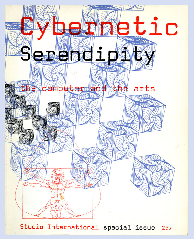 Front cover of Studio International publication accompanying Cybernetic Serendipity exhibition, ICA, London, 1968, curated by Jasia Reichardt.