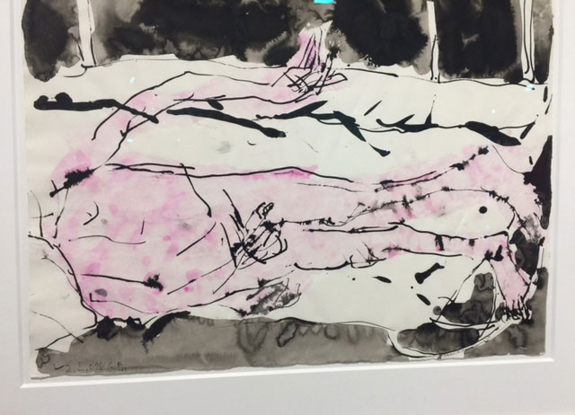 Georg Baselitz. Untitled, 2016. Watercolour and ink on paper, 19 ¾ x 26 in. Photograph: Jill Spalding.