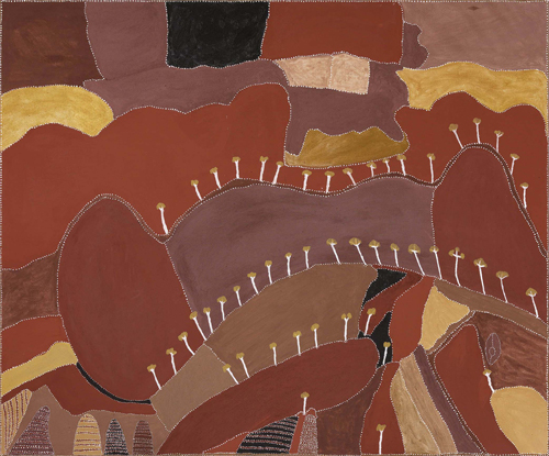 <p>Patrick Mung Mung. <em>Ngarrgoorroon country</em>, 2006. Natural pigments on canvas, 152 x 183 cm.
