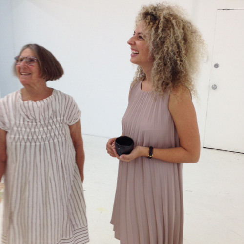 Gallerist Nina Johnson and artist Betty Woodman. Photograph: Jill Spalding.