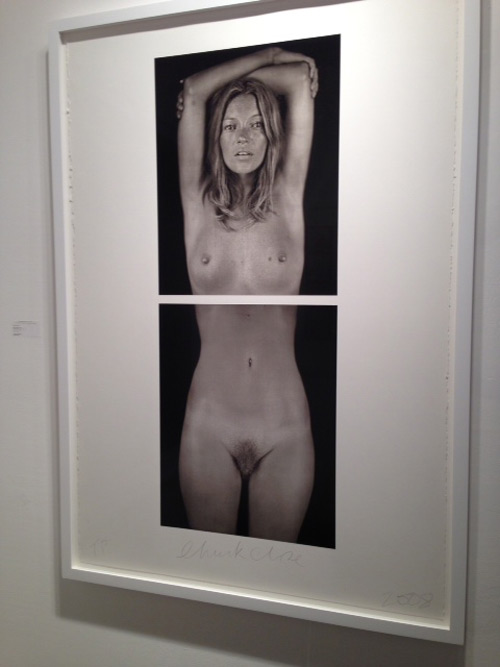 Chuck Close. Kate Moss, 2003. Digital pigment print, 46.5 x 17.5cm. Photograph: Jill Spalding.